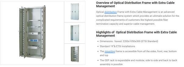 ODF Fiber Frame Pic 1
