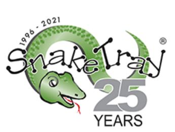 Snake Tray 25 Year Logo